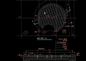 某體育運動場地設計cad平剖面圖