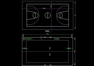 某籃球場設計cad方案