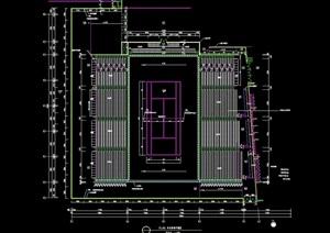 某网球场建筑设计cad平面图
