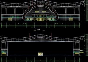 某篮球体育馆建筑设计cad方案图