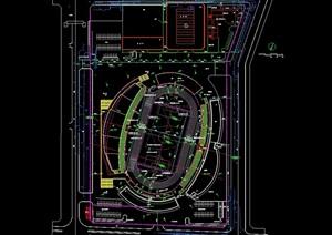 体育运动场馆设计cad平面图