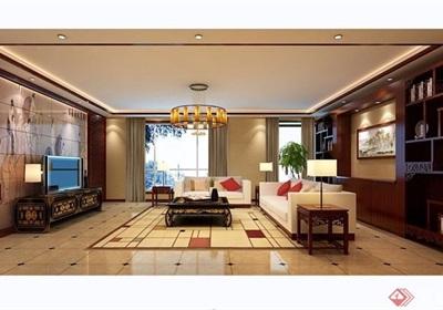 中?#38454;?#23429;客厅室内设计3d模型及效果图