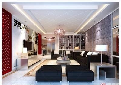 某详细的中式客厅空间设计3d模型及效果图