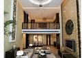 某别墅客厅空间设计3d模型及效果图