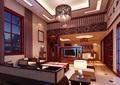 某详细的中式客厅空间装饰3d模型及效果图
