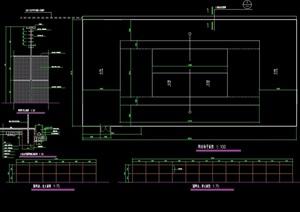 体育网球场设计cad施工图