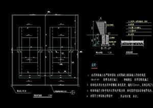 网球场地设计cad施工图