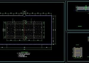 篮球运动场设计cad施工图