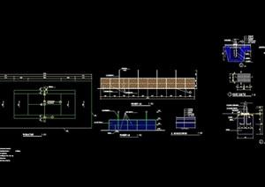 標準網球場地設計cad施工圖