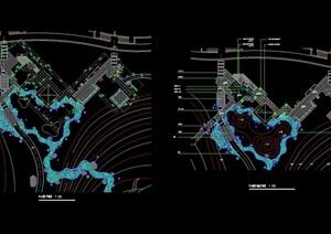 现代详细的铺装设计cad施工图