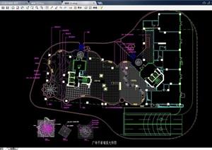 某整体详细的广场铺装设计cad施工图