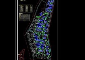 小区建筑规划cad总平面图
