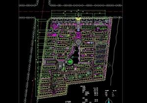 小区建筑及景观规划cad图纸