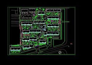 小区环境详细规划cad方案
