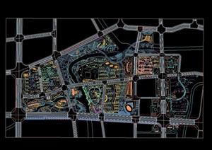 小区规划整体规划CAD总图