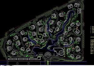 小区规划完整设计cad图