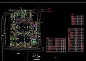 某整体小区规划设计cad方案总图
