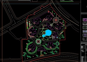 小区景观规划设计cad图