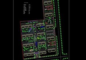 小区规划建筑及景观设计cad图