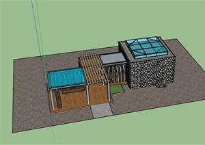 广东湿地公园驿站服务建筑施工图设计