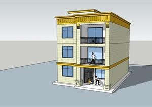 黄石自建房项目,建筑结构施工图,及项目SU(草图大师)模型资料和设计文件