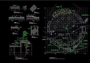 某老年活动中心设施素材cad施工图