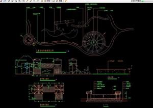 详细的游乐设施素材设计cad施工图