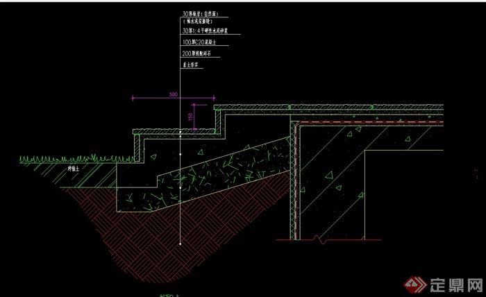 详细的台阶素材设计cad施工图