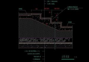 完整详细的台阶设计cad施工图