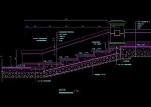 园林景观台阶设计cad施工图