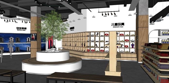 超市进口商品专卖店 室内模型(1)