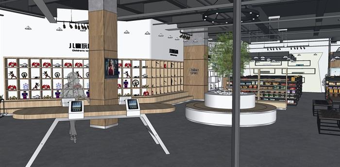 超市进口商品专卖店 室内模型(2)