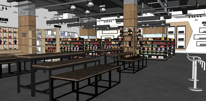 超市进口商品专卖店 室内模型(3)