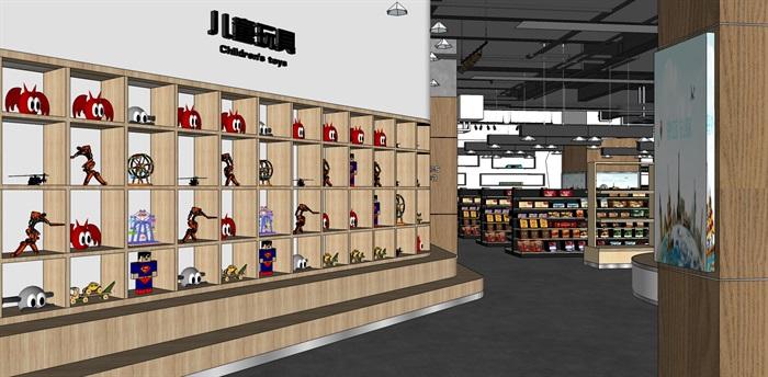 超市进口商品专卖店 室内模型(6)