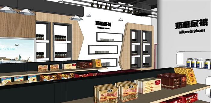 超市进口商品专卖店 室内模型(8)