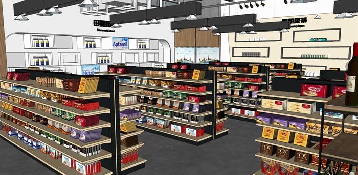 超市进口商品专卖店 室内模型(9)