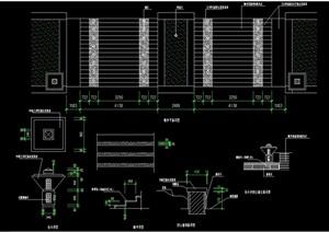 现代台阶详细完整设计cad施工图