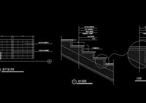 现代台阶完整详细的设计cad施工图