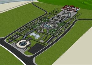现代新中式大型宗教道教文化广场景观规划设计山地?#26053;?#36947;观群规划