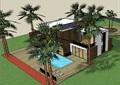 详细的两层详细的别墅设计su模型