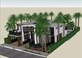 现代私人的住宅别墅设计su模型
