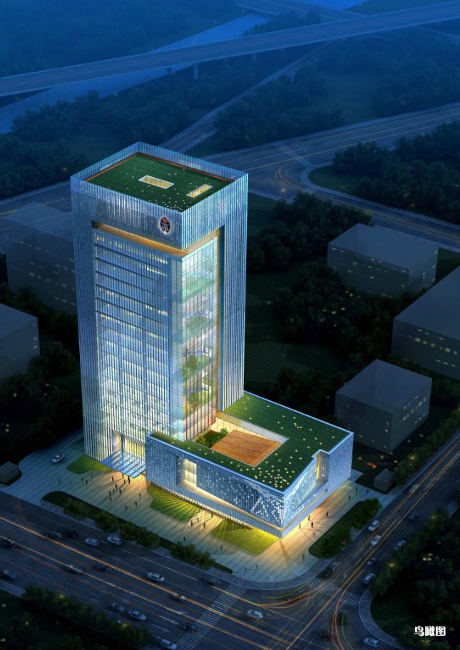 现代高层写字办公商务楼科技研发中心su模型  cad 高清文本图片(3)