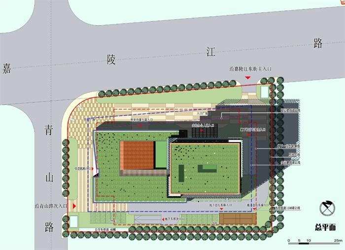 现代高层写字办公商务楼科技研发中心su模型  cad 高清文本图片(5)