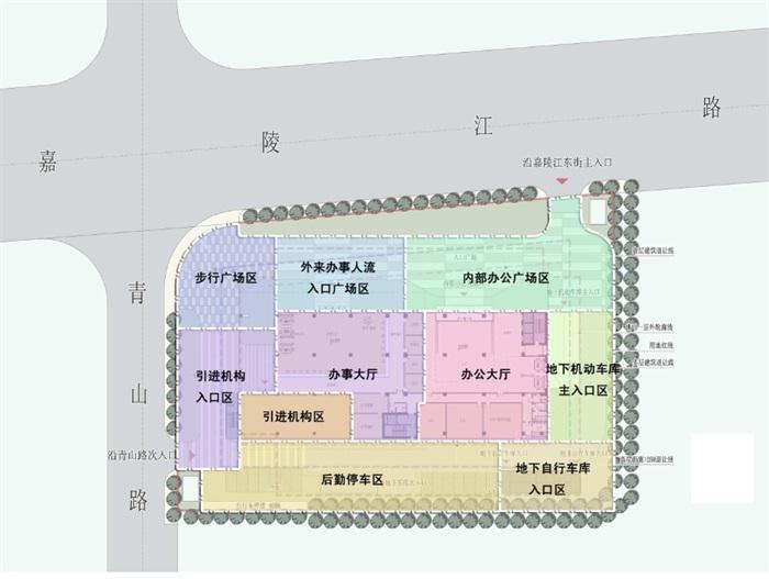 现代高层写字办公商务楼科技研发中心su模型  cad 高清文本图片(6)