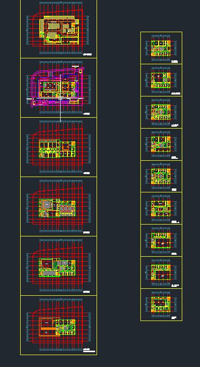 现代高层写字办公商务楼科技研发中心su模型  cad 高清文本图片(9)