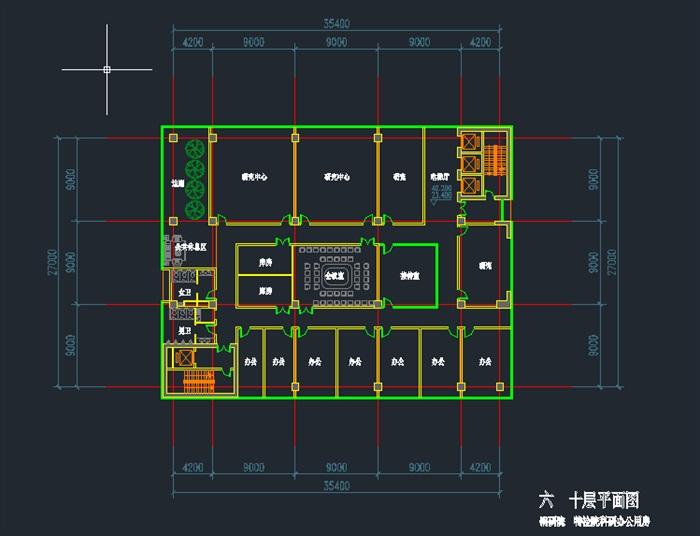 现代高层写字办公商务楼科技研发中心su模型  cad 高清文本图片(11)