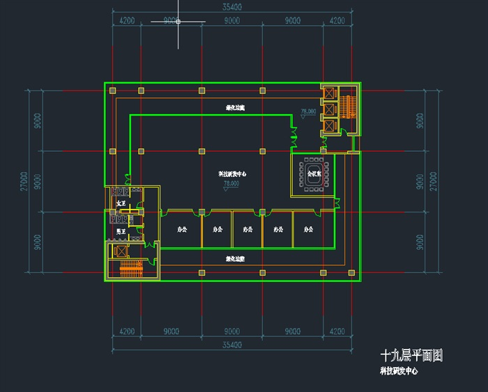 现代高层写字办公商务楼科技研发中心su模型  cad 高清文本图片(12)
