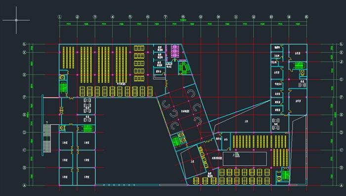 现代大学五层图书馆建筑设计方案cad平面剖面总平面图?#26696;?#28165;效果图(3)