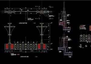 景观特色灯柱设计cad施工图