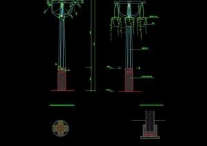现代景观灯柱cad施工图